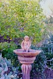 Birdbath angel Royalty Free Stock Photo
