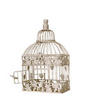 Birdcage. Open door on a vintage birdcage Royalty Free Stock Photo