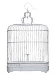 A birdcage. Isolated on a white background Stock Image