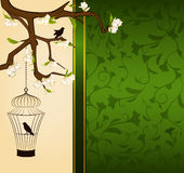 birdcage and birds Stock Images