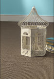 Birdcage on Carpet Stock Image