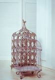 Birdcage decorativo del metal Fotografía de archivo