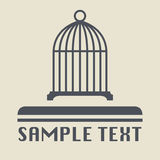 Birdcage icon or sign Royalty Free Stock Image
