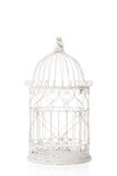 Birdcage. Old antique birdcage on a white background Royalty Free Stock Image
