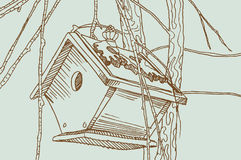 Birdcage Sketch - Outdoors Royalty Free Stock Photo