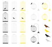 Birdcages Fotos de archivo