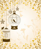 Birdcages and birds Royalty Free Stock Image
