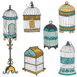 Birdcages Collection Stock Images