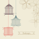 Birdcages icon. Decoration object. vintage concept, vector graph Royalty Free Stock Images