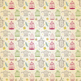 Birdcages pattern Royalty Free Stock Images