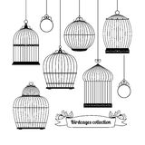 Birdcages silhouettes Stock Photography
