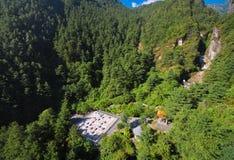 Birdeye view of Cangshan Canyon at Dali, China Royalty Free Stock Photo