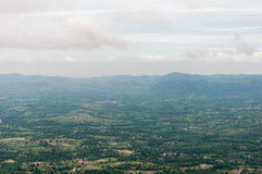 Birdeye view from the high mountain. Stock Photography