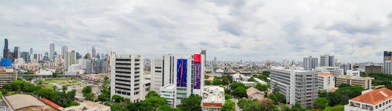 Birdeye view, panorama view of Bangkok Stock Photo