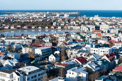 Birdeye view of Reykjavik Stock Photography