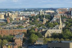 The birdeye view towards Boston south end Royalty Free Stock Photo
