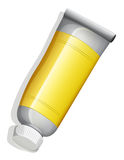 A birdeye view of a yellow tube Royalty Free Stock Photo