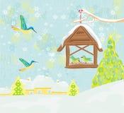Birdfeeder in winter Royalty Free Stock Photos