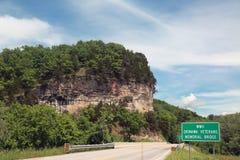 Bridge over the Gasconade Ricer in Pulaski County, Missouri Stock Photos
