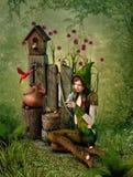Birdhouse, τρισδιάστατο CG Στοκ Εικόνα
