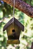 Birdhouse в саде Стоковое фото RF