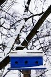 Birdhouse в снеге Стоковые Изображения RF
