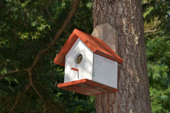 Birdhouse в снежке Стоковые Фотографии RF