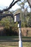Birdhouse на поляке стоковые изображения