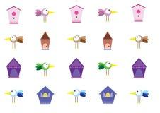 Birdhouse птицы иллюстрация вектора