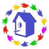 birdhouse stock illustrationer