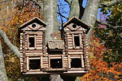 Birdhouse,. Birdhouse for birds with their hands Royalty Free Stock Images