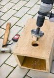 Birdhouse στην κατασκευή του σταδίου Στοκ φωτογραφία με δικαίωμα ελεύθερης χρήσης