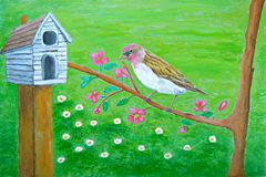 birdhouse Royalty Illustrazione gratis