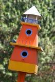 Birdhouse arancione Fotografie Stock