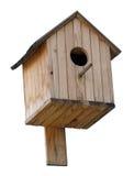 Birdhouse au-dessus de blanc Images libres de droits