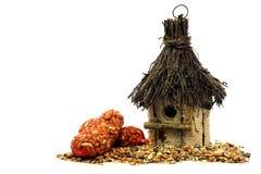 Birdhouse with birdfeed Stock Photography