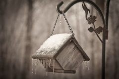 Birdhouse Closed for the Winter Royalty Free Stock Photo