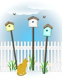 Birdhouse community Royalty Free Stock Photo