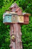 Birdhouse condos Royalty Free Stock Photos