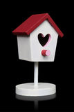 Birdhouse d'amour de Valentines Photos libres de droits