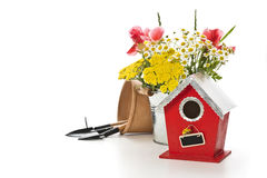Birdhouse with decoration Royalty Free Stock Image