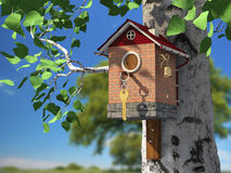Birdhouse dell'elite Fotografia Stock
