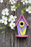 birdhouse derenie fechtują się stary drewnianego zdjęcia royalty free