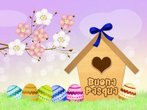 Birdhouse for Easter Royalty Free Stock Photos