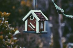 Birdhouse in garden Royalty Free Stock Photography