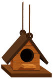 Birdhouse hanging with rope Stock Image