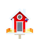 Birdhouse isolated on white Stock Photo