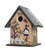 Birdhouse, isolated on white Stock Photography