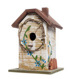 Birdhouse, isolated on white Royalty Free Stock Photography