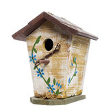 Birdhouse, isolated on white Royalty Free Stock Photos